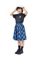 JBSK-18 爽やかカラーのチェック柄スカート。たっぷりフレアがかわいい1枚。